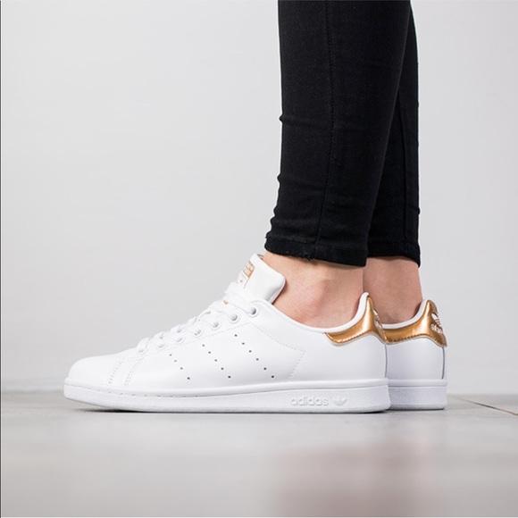 Adidas | Stan Smith W | Gold + White NWT